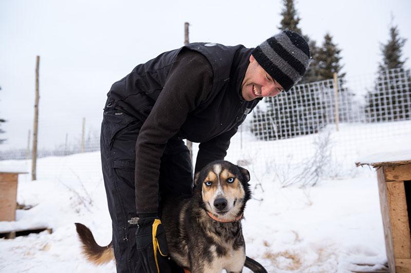Dog and musher