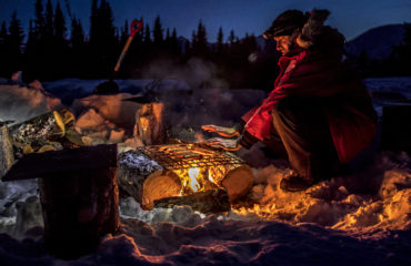 Cooking on a campfire