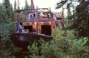 Old Sternwheeler Hootalinqua Yukon