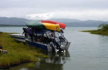 Boat Shuttle on Lake Laberge
