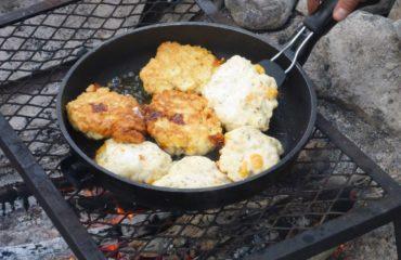 Cooking  Bannock Over a Campfire